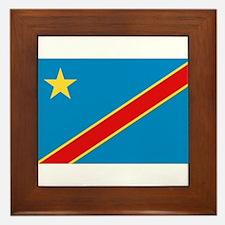 Democratic Rep. Congo Flag Framed Tile