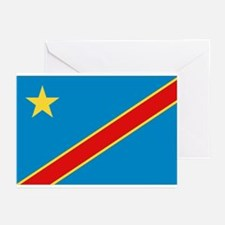Democratic Rep. Congo Flag Greeting Cards (Package