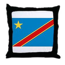 Democratic Rep. Congo Flag Throw Pillow