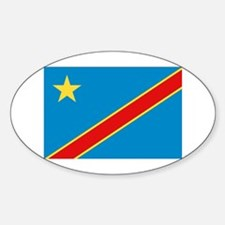 Democratic Rep. Congo Flag Oval Decal