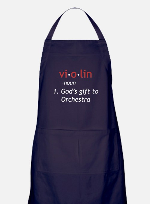 Definition of a Violin Apron (dark)