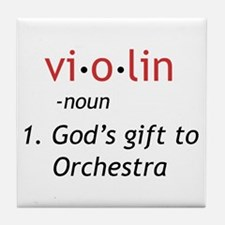 Definition of a Violin Tile Coaster