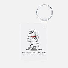 Bulldog Don't Tread on Me Keychains