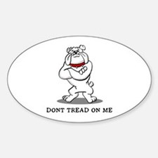 Bulldog Don't Tread on Me Decal