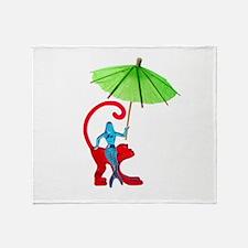 Cocktail Mermaid Monkey Throw Blanket