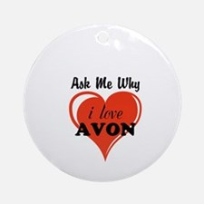 AVON Kiss Ornament (Round)