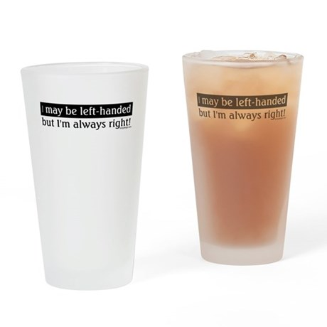 Left-Handed Drinking Glass