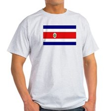 Costa Rican Flag Ash Grey T-Shirt