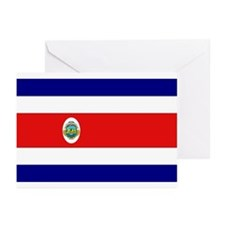 Costa Rican Flag Greeting Cards (Pk of 10)