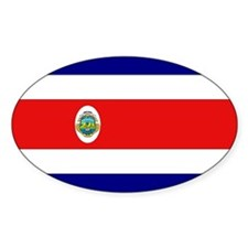 Costa Rican Flag Oval Decal