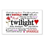 Twilight Quotes Sticker (Rectangle)