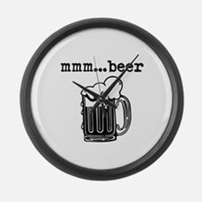 Beers Large Wall Clock