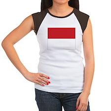 Monaco Flag Women's Cap Sleeve T-Shirt