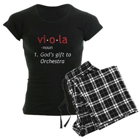 Definition of a Viola Women's Dark Pajamas