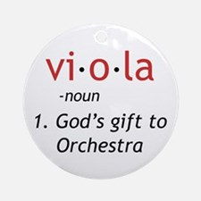 Definition of a Viola Ornament (Round)