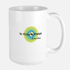 Thumbs Down To Climate Change Large Mug