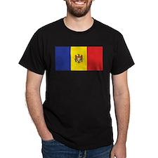 Moldova Flag Black T-Shirt