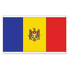 Moldova Flag Rectangle Decal