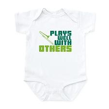 Trombone Plays Well Infant Bodysuit