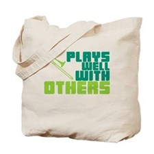 Trombone Plays Well Tote Bag