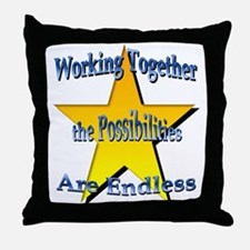 Possibilities Are Endless Throw Pillow