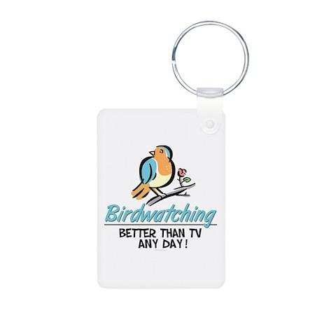 Birdwatching Aluminum Photo Keychain