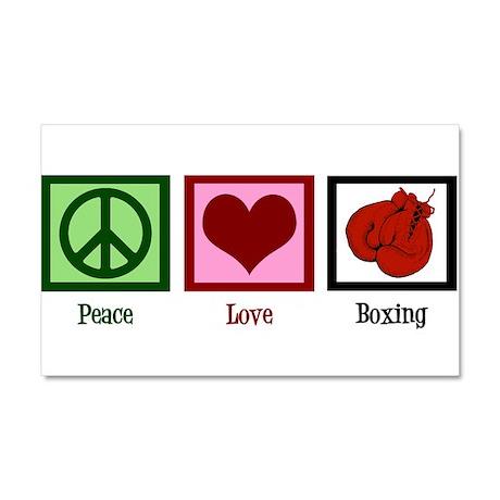 Peace Love Boxing Car Magnet 20 x 12