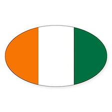 Côte d'Ivoire Flag Oval Decal
