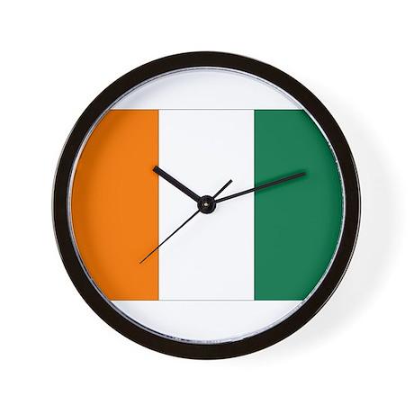 Côte d'Ivoire Flag Wall Clock