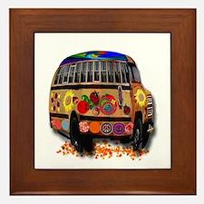 Ladybug bus Framed Tile