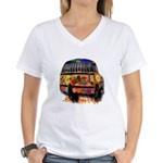 Ladybug bus Women's V-Neck T-Shirt