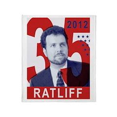 RATLIFF FOR PRESIDENT Throw Blanket