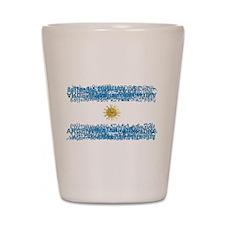 Textual Argentina Shot Glass