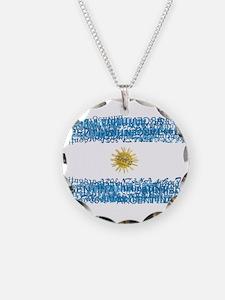 Textual Argentina Necklace