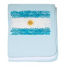 Textual Argentina baby blanket