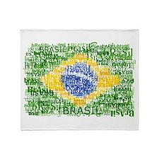 Textual Brasil Throw Blanket
