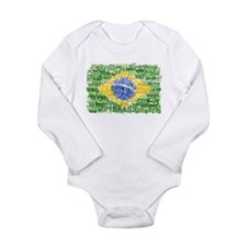 Textual Brasil Long Sleeve Infant Bodysuit