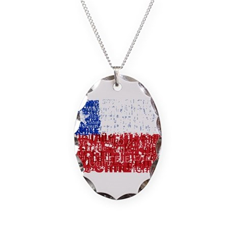 Textual Chile Necklace Oval Charm