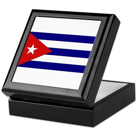 Cuban Flag Keepsake Box