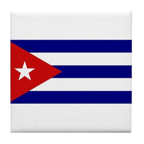 Cuban Flag Tile Coaster