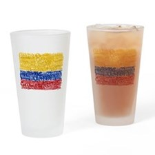 Textual Colombia Drinking Glass