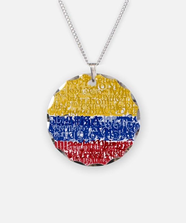 Textual Colombia Necklace