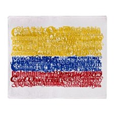 Textual Colombia Throw Blanket