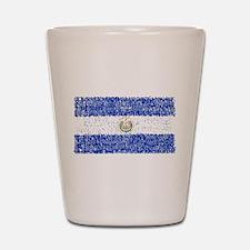Textual El Salvador Shot Glass