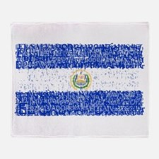 Textual El Salvador Throw Blanket