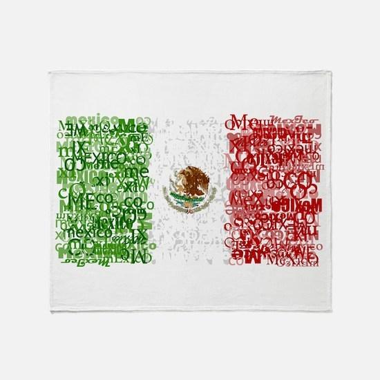 Textual Mexico Throw Blanket