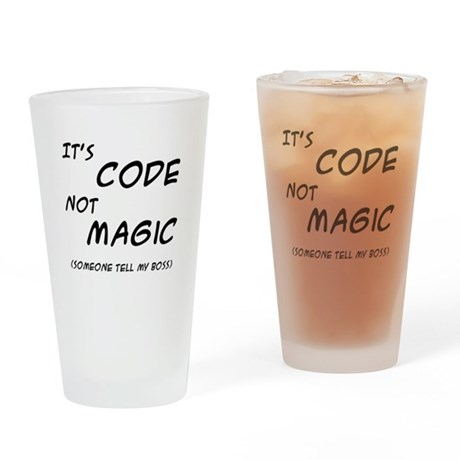 Code Magic Drinking Glass