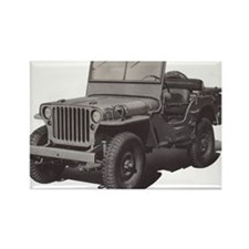 Army Jeep Rectangle Magnet