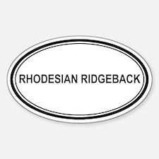 Rhodesian Ridgeback Oval Decal