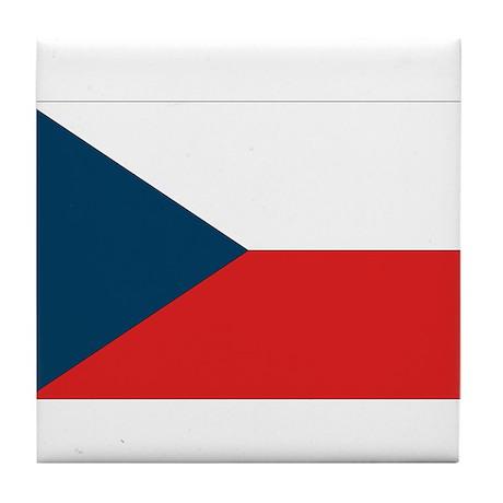 Flag of Czech Republic Tile Coaster